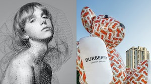 Hedi Slimane's and Riccardo Tisci teasers for Celine and Burberry | Source: Instagram/Celine and Instagram/Burberry