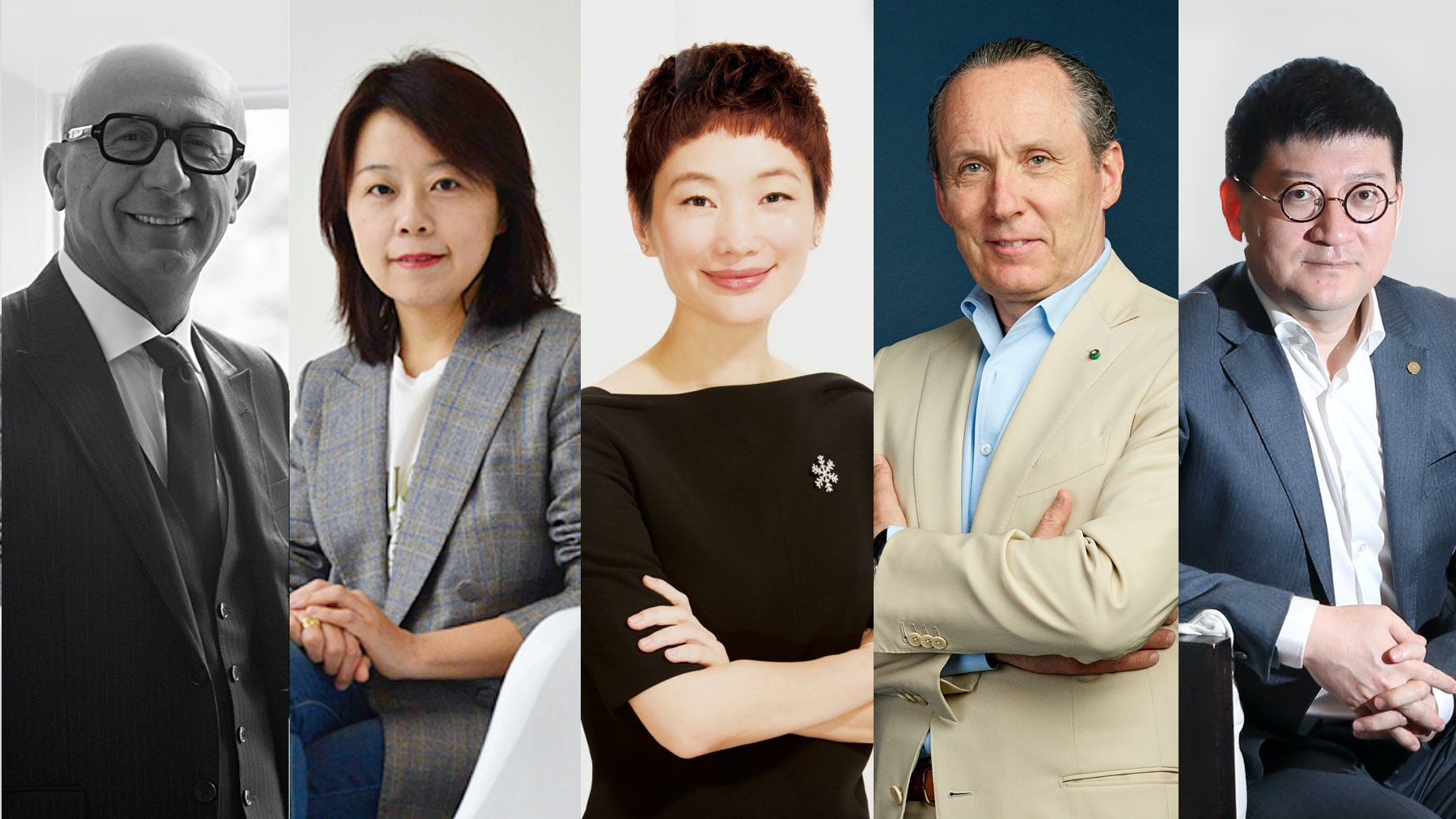 Marco Bizzarri, Jessica Liu, Xiao Xue, Ermenegildo Zegna and Chen Xiaodong | Source: Courtesy