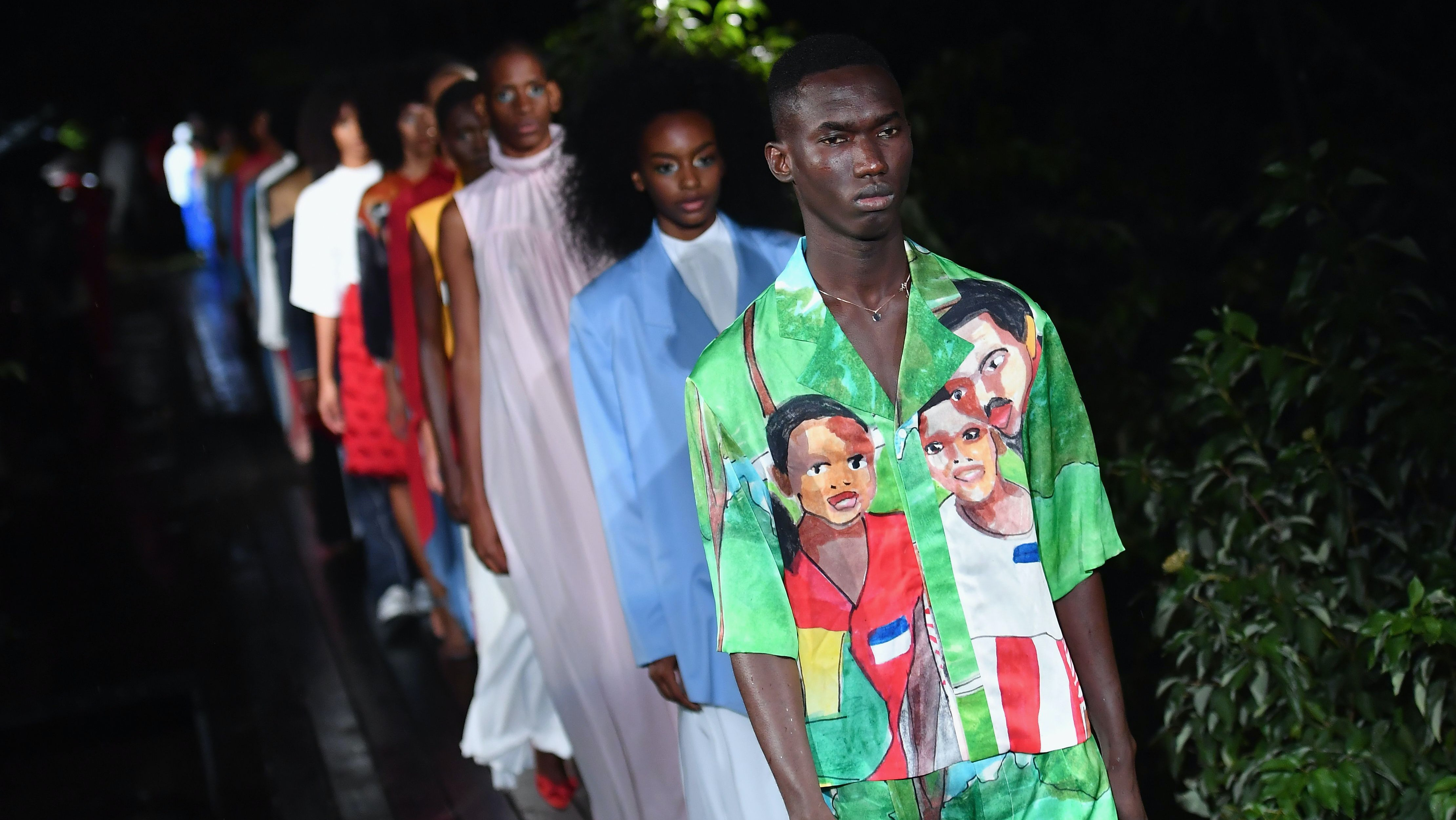 Pyer Moss Spring Summer 2019 | Source: Angela Weiss/AFP/Getty Images