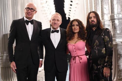 Marco Bizzarri, Francois-Henri Pinault, Salma Hayek and Alessandro Michele