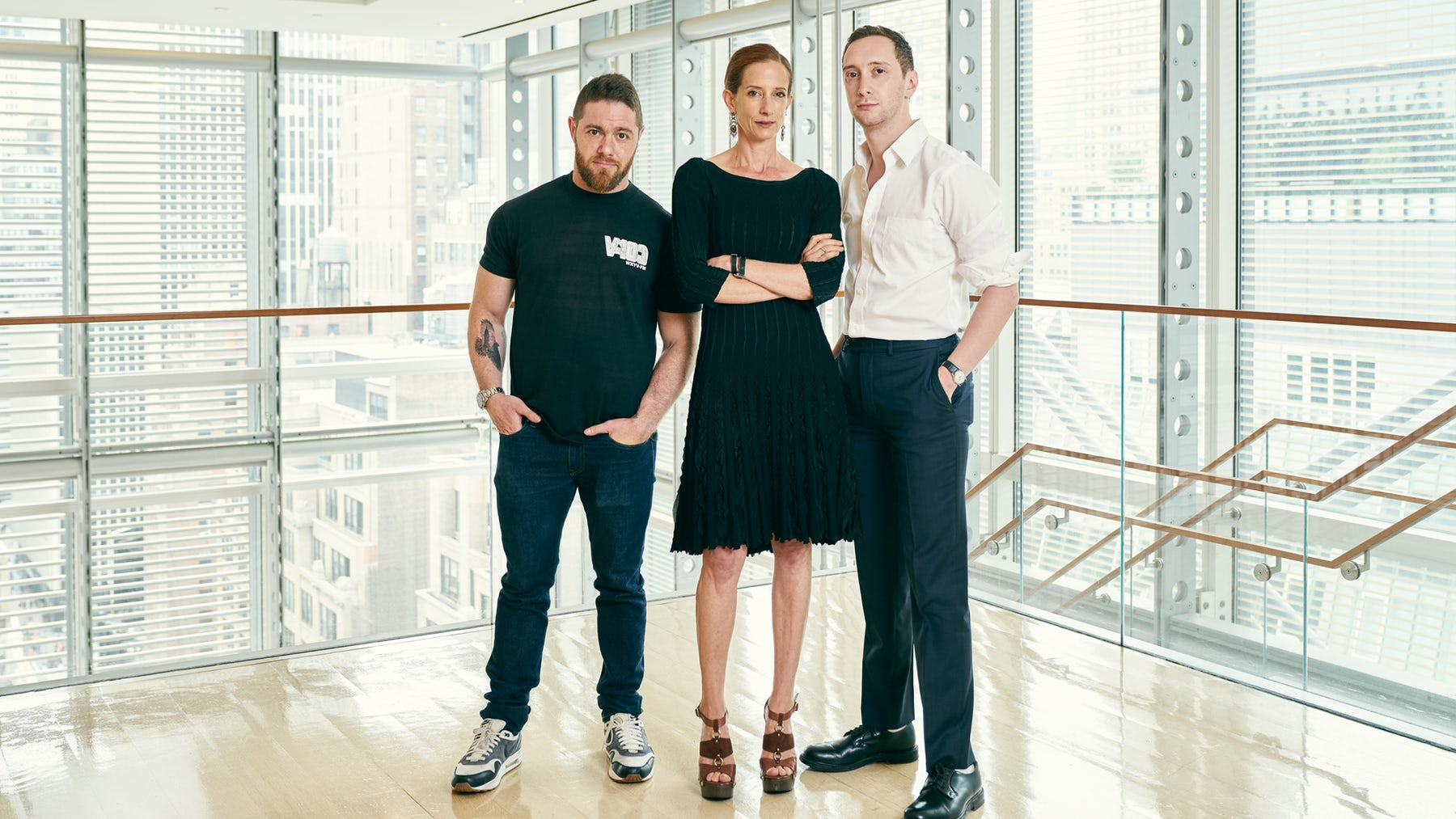 Jacob Bernstein, Vanessa Friedman and Matthew Schneier, the New York Times Styles team who uncovered allegations of sexual misconduct against Mario Testino and Bruce Weber | Photo: Adam Hoff for BoF