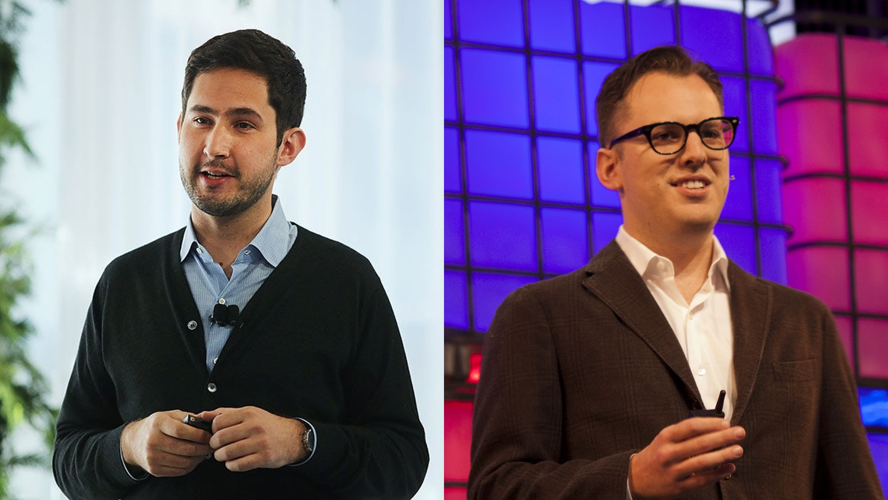 Kevin Systrom and Mike Krieger | Source: Getty Images and Shutterstock
