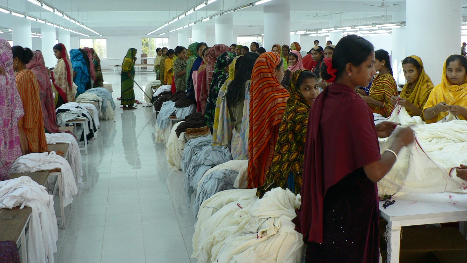 Textile Factory Workers in Dhaka   Source: Shutterstock