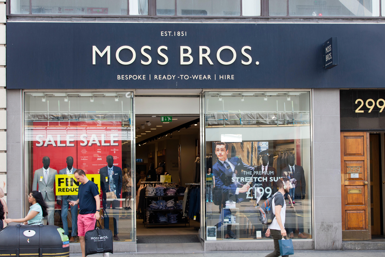 Moss Bros store front   Source: Shutterstock