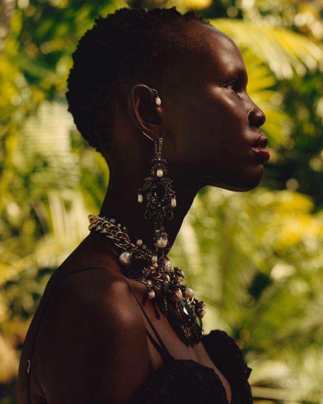 Shanelle Nyasiase for Alexander McQueen Spring/Summer 2018