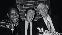 Andre Leon Talley, Steven Rubell, and Andy Warhol by Bob Colacello | Source: Courtesy Bob Colacello