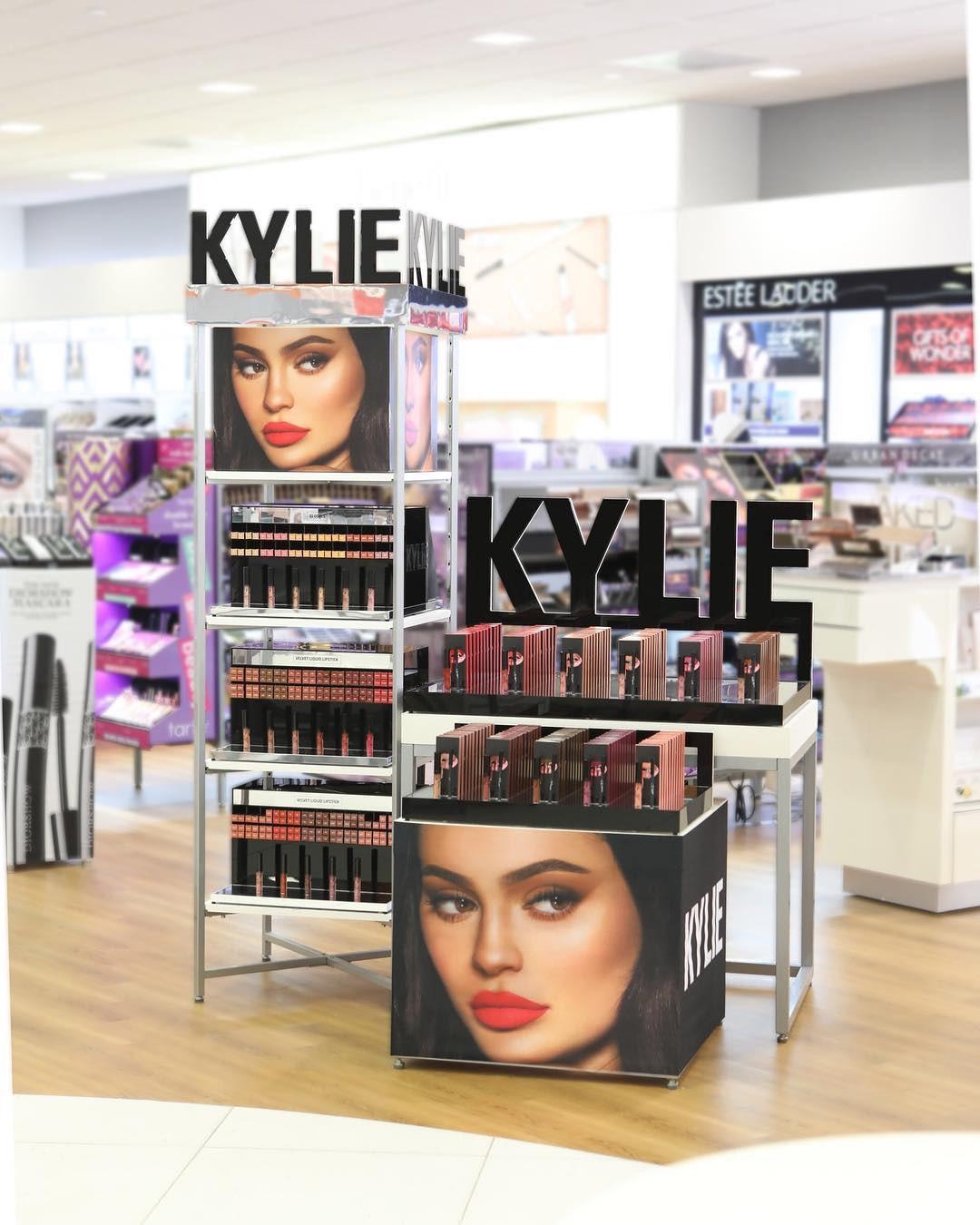 A Kylie Cosmetics display inside an Ulta Beauty store   Source: Instagram/@ultabeauty