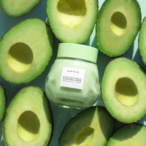 "Glow Recipe's ""Avocado Melt Sleeping Mask."""