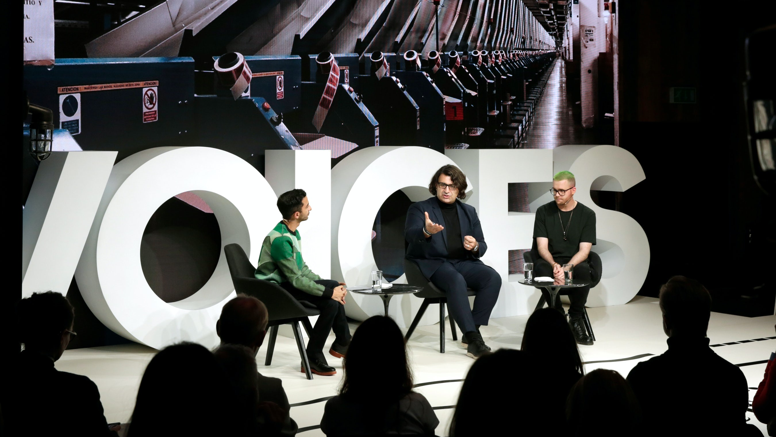 Left to right: Imran Amed, Arti Zeighami and Christopher Wylie | Source: Getty Images for The Business of Fashion