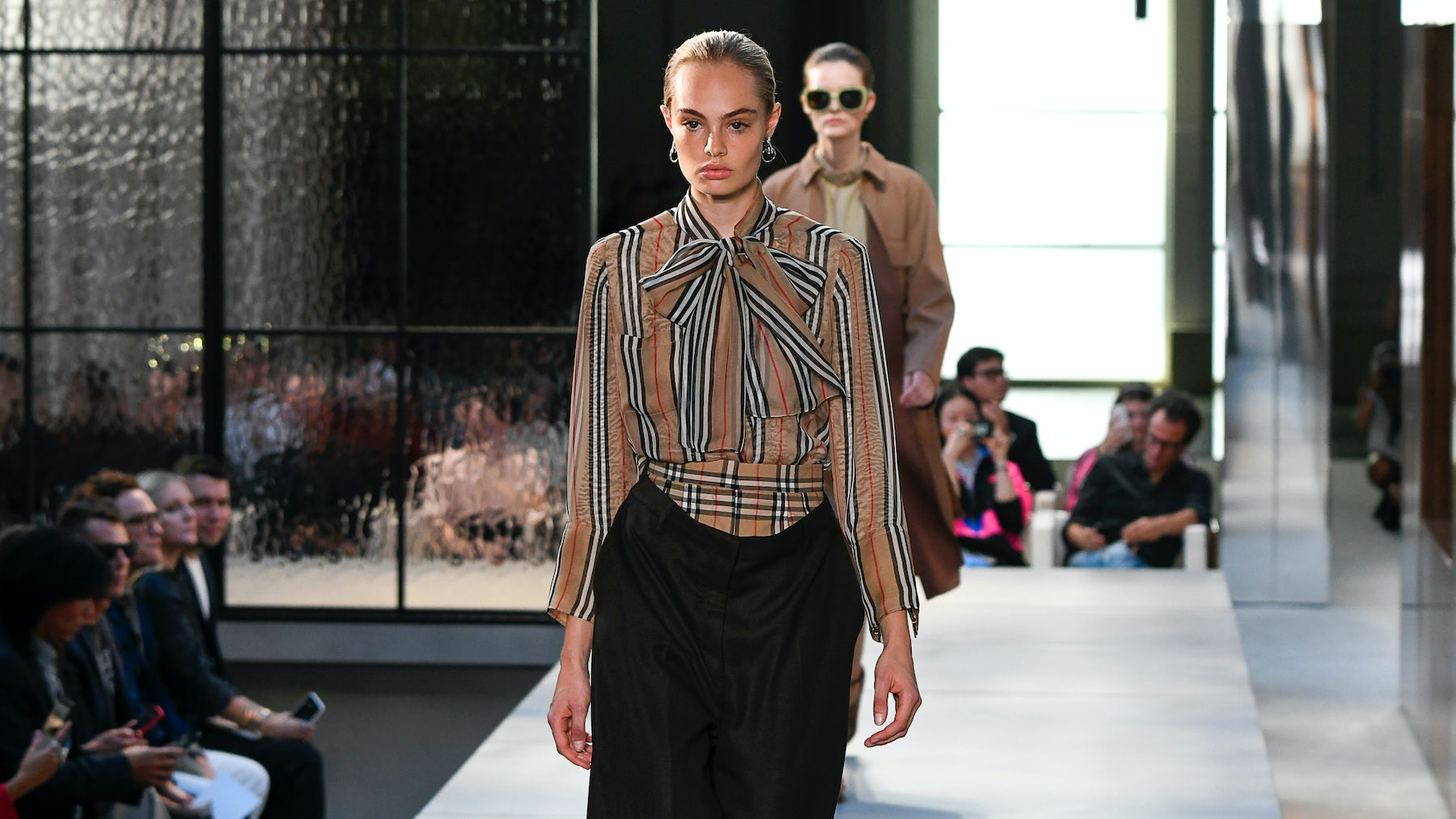 Riccardo Tisci's Burberry . debut | Source: InDigital