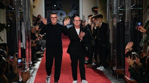 Stefano Gabbana and Domenico Dolce at Milan Men's Fashion Week Fall/Winter 2018/19 | Source: Getty Images
