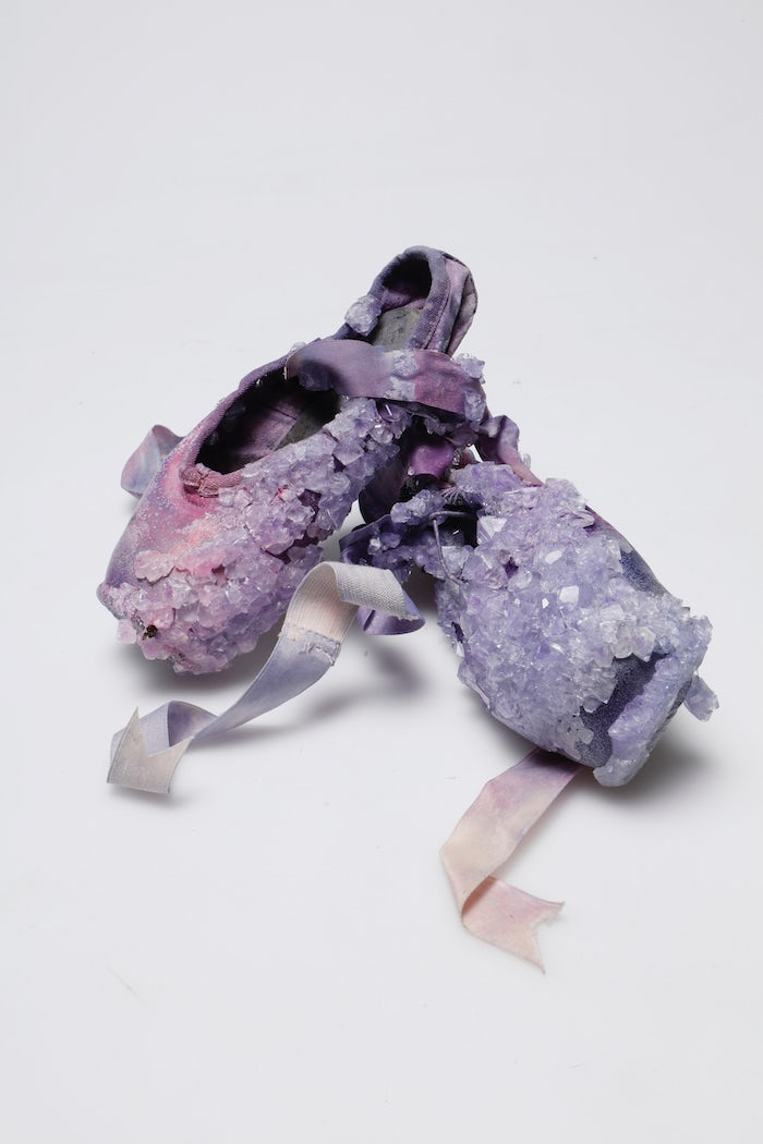 Alice Potts' ballet pumps in sweat-made crystals | Source: Courtesy