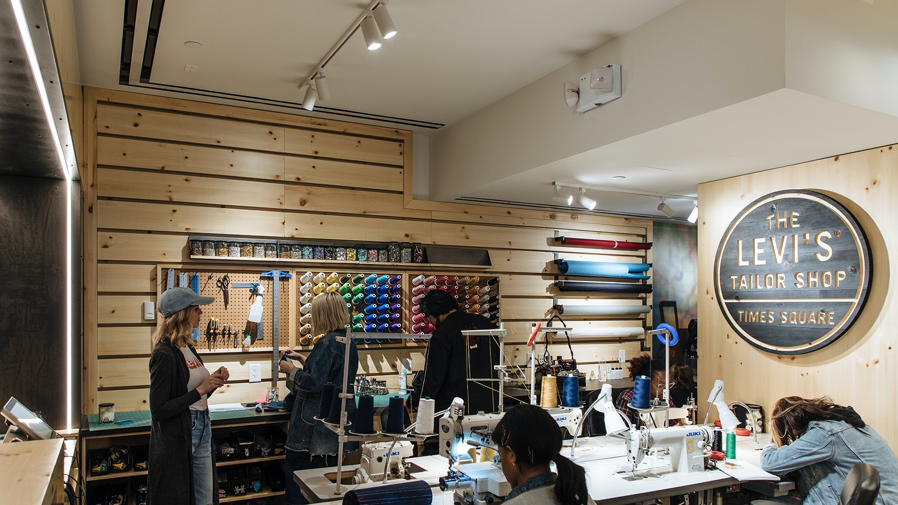 The tailor shop in the new flagship | Source: Courtesy