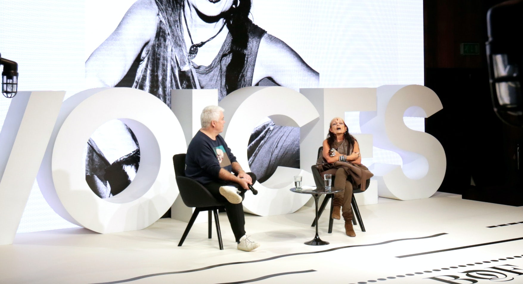 Tim Blanks and Michèle Lamy | Source: Getty Images for The Business of Fashion