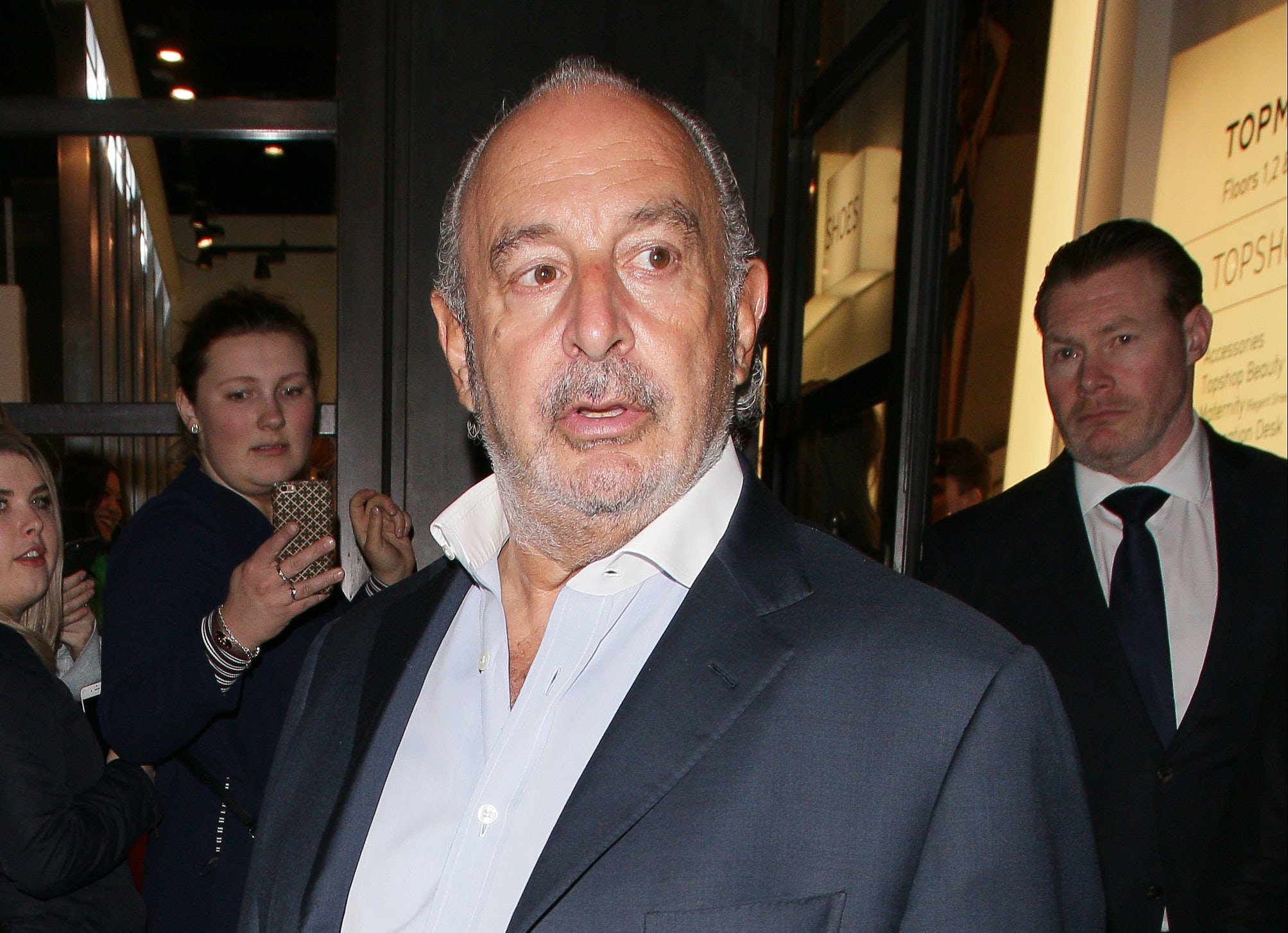 Sir Philip Green at Topshop Oxford Street | Source: Getty