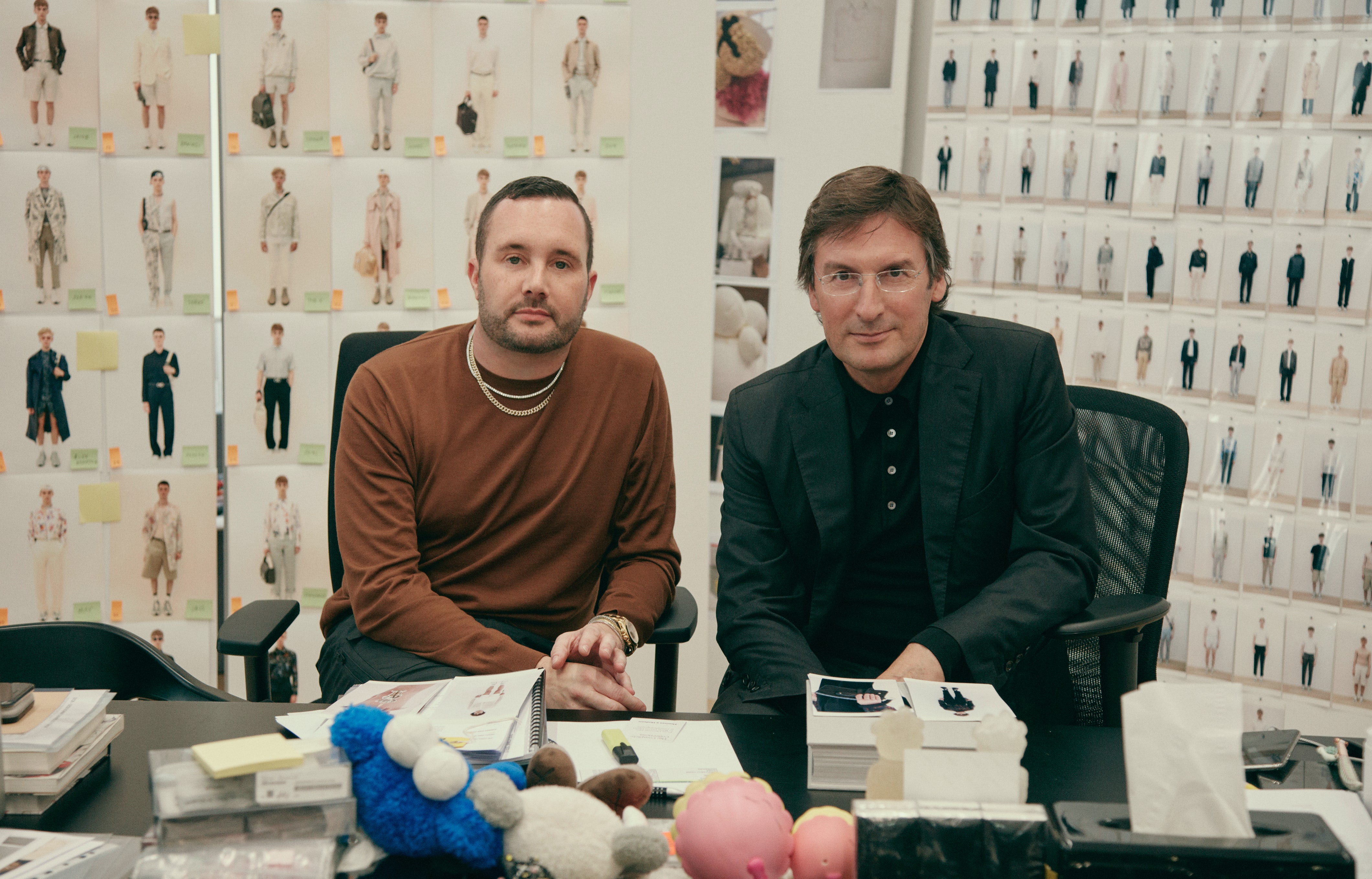 Pietro Beccari and Kim Jones photographed by Jackie Nickerson | Source: Courtesy