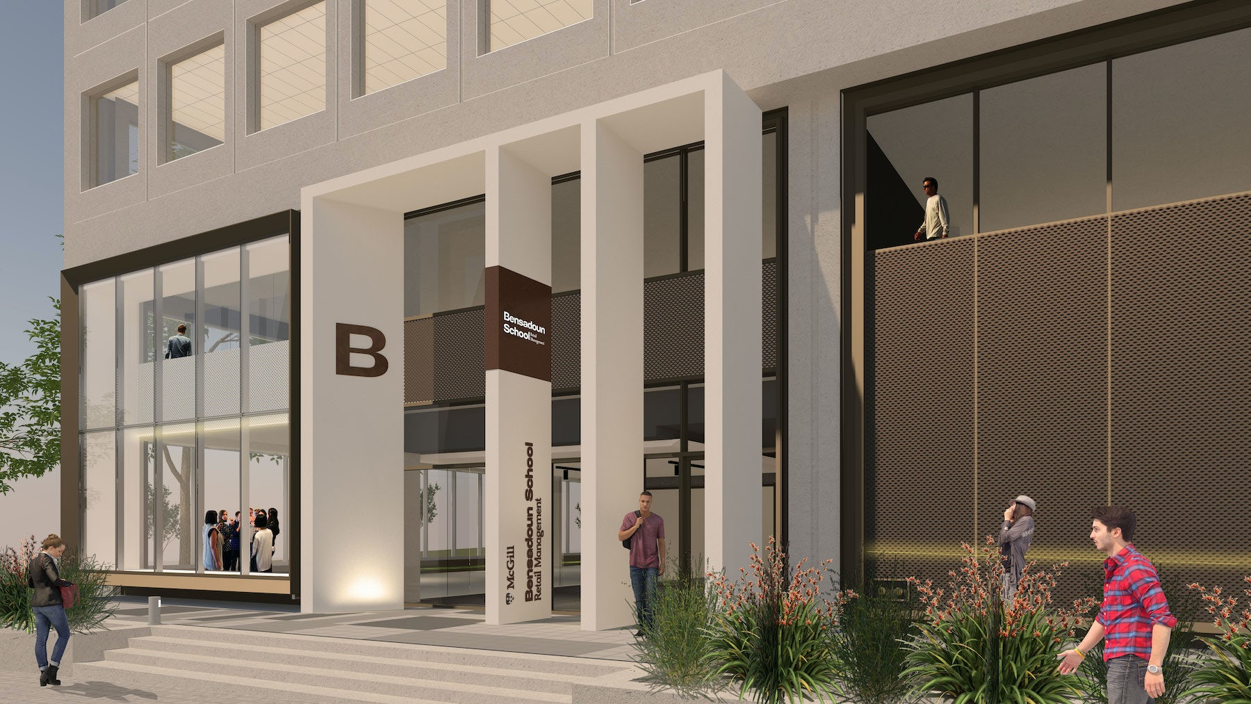 Rendering of the Bensadoun School of Retail Management | Source: Courtesy