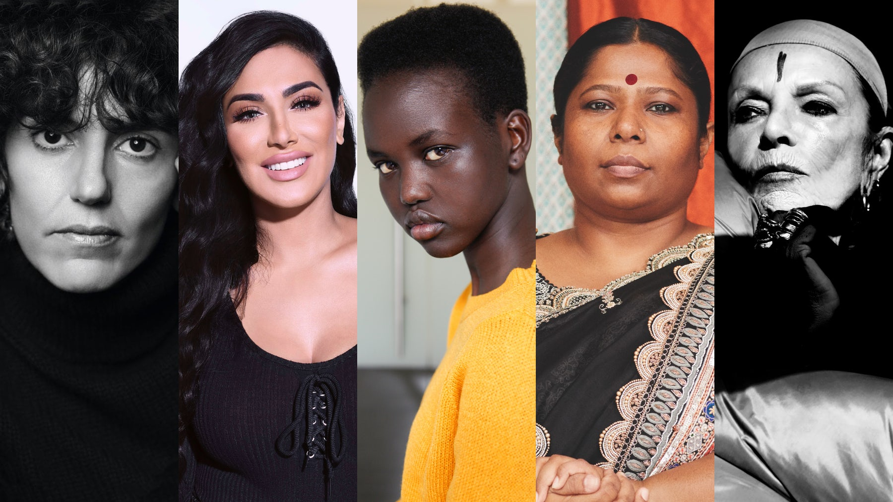 Francesca Bellettini, Huda Kattan, Adut Akech, Kalpona Akter and Michèle Lamy | Source: Courtesy