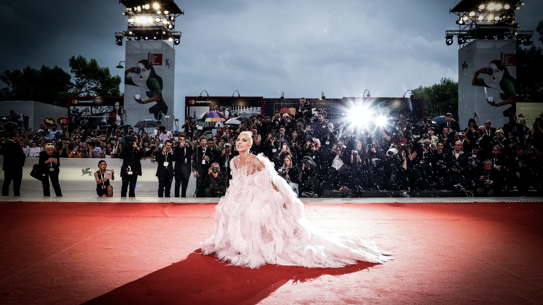 Lady Gaga at 'A Star Is Born' screening at Venice Film Festival Photo: Vittorio Zunino Celotto | Source: Getty Images
