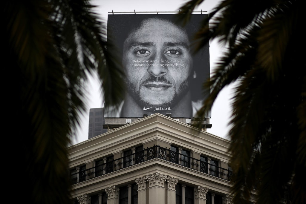 finest selection d7158 9a512 Colin Kaepernick Nike Ad   Photo  Justin Sullivan Getty Images