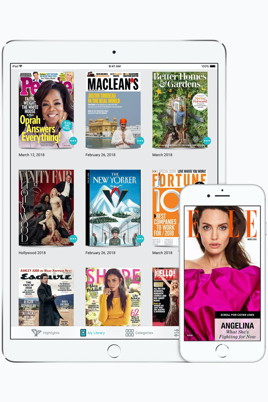 Apple agreed to acquire digital magazine service Texture in March 2018   Source: Courtesy