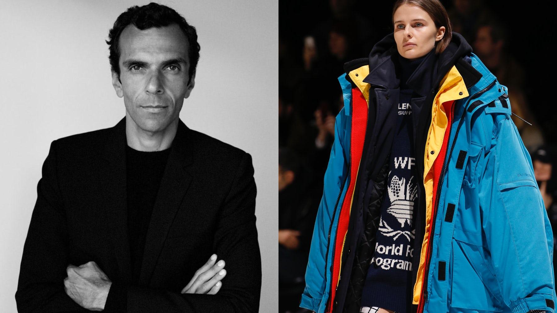Cédric Charbit and a model walking the Balenciaga Autumn/Winter 2018 show   Source: Courtesy & InDigital