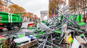 The Champs Élysées the day after demonstrations on November 25 | Source: Shutterstock