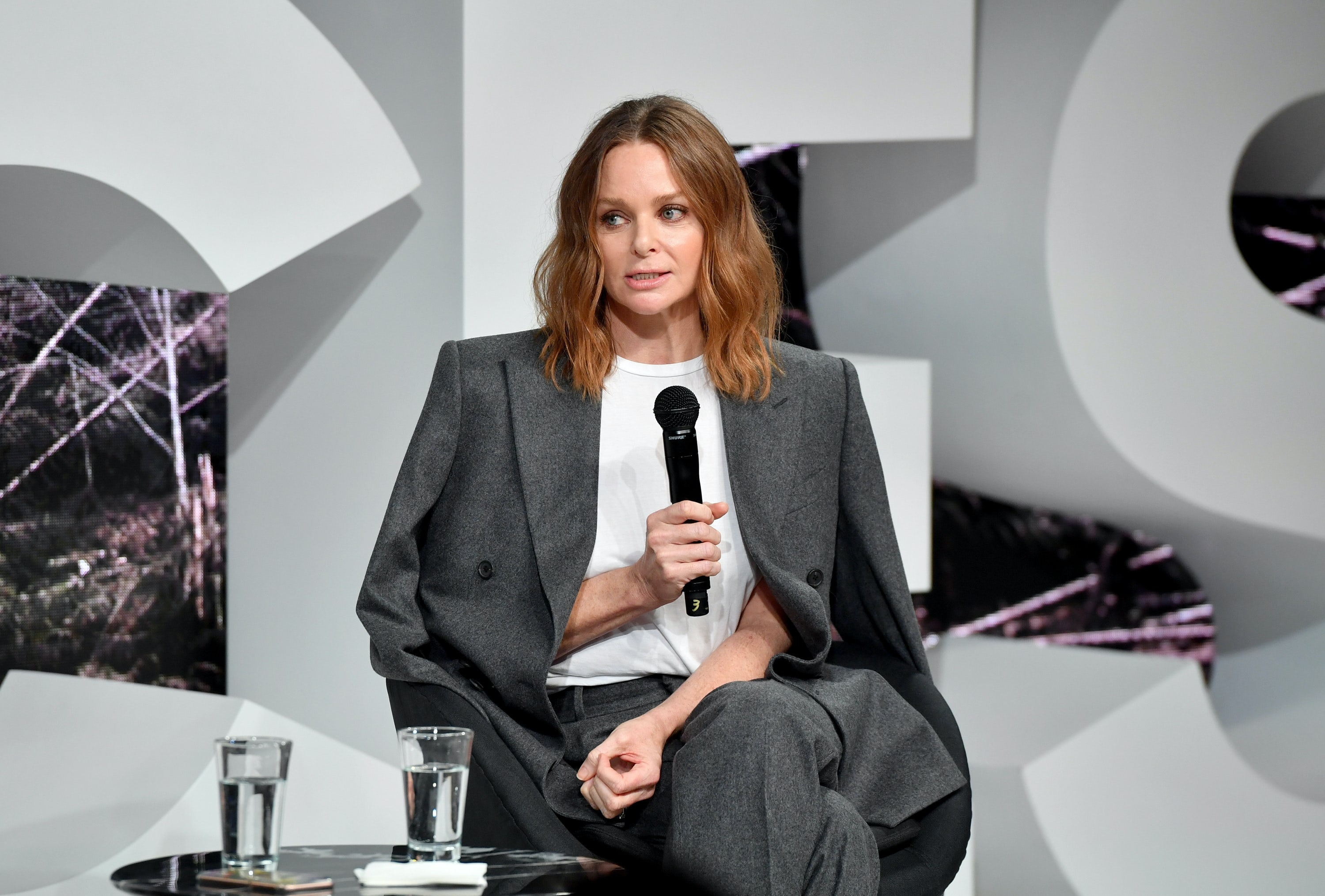Stella McCartney speaks on stage during #BoFVOICES