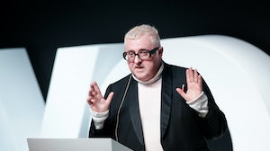 Alber Elbaz speaks on stage during #BoFVOICES