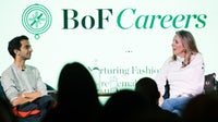 Imran Amed and Stephanie Phair on stage at BoF Careers Event | Source: Getty Images / Jeff Spicer