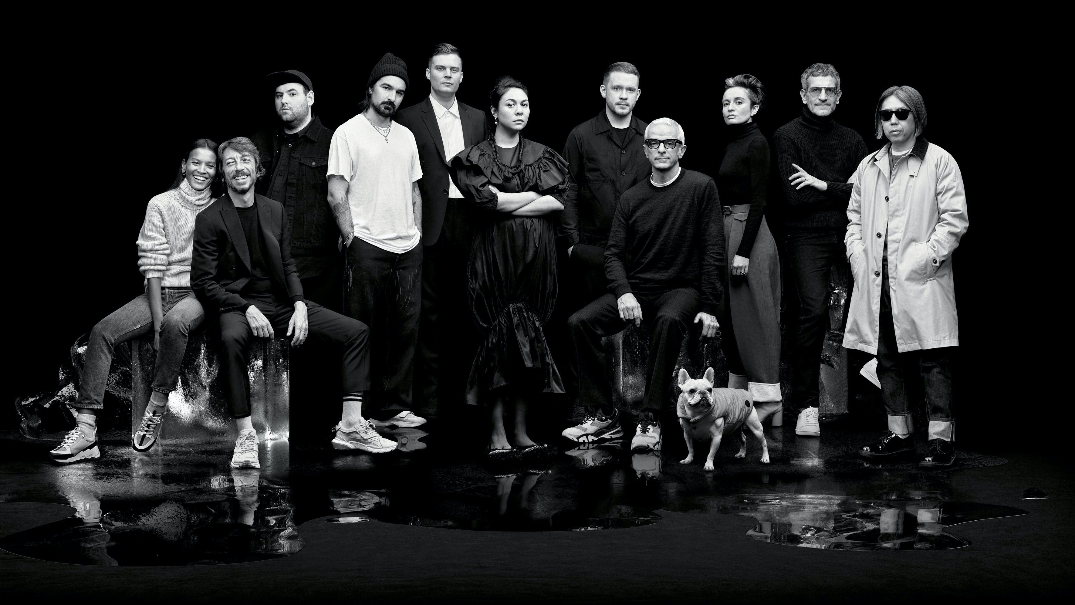 Moncler Genius collaborators for 2019: Liya Kebede, Pierpaolo Piccioli, Richard Quinn, Francesco Ragazzi, Matthew Williams, Simone Rocha, Craig Green, Sandro Mandrino, Veronica Leoni, Sergio Zambon and Hiroshi Fujiwara | Source: Thomas Lohr for Moncler