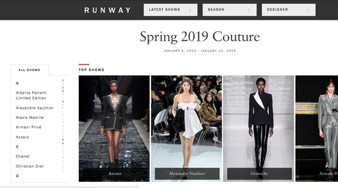 4897c37ef44 Vogue Runway Is Charging Some Brands to Post Their Collection Images ...