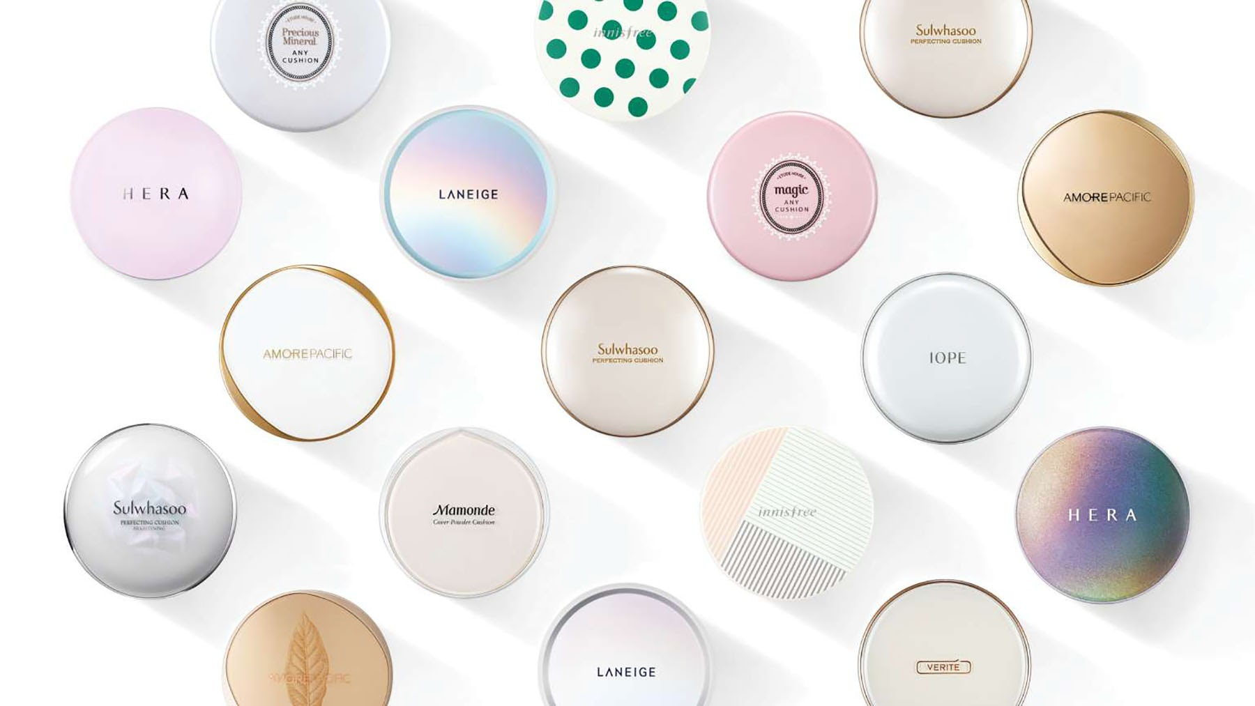 Cushion compacts across Amorepacific's brands | Source: Courtesy