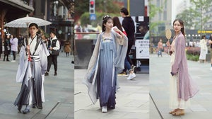 Hanfu streetstyle shot | Source: @她街拍 via Weibo