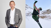 Chief executive Nick Beighton and Asos' latest activewear campaign | Source: Courtesy