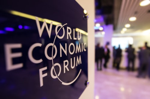 The World Economic Forum's annual gathering in Davos, Switzerland