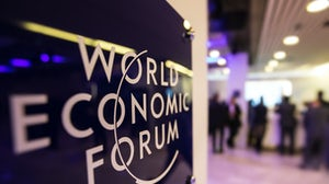 The World Economic Forum's annual gathering in Davos, Switzerland