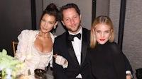 Bella Hadid, Derek Blasberg and Rosie Huntington-Whiteley at the #BoF500 gala dinner during NYFW Spring/Summer 2019 by Dimitrios Kambouris | Source: Getty