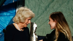 Bethany Williams receives Royal prize from the Duchess Of Cornwall | Source: Getty Images)