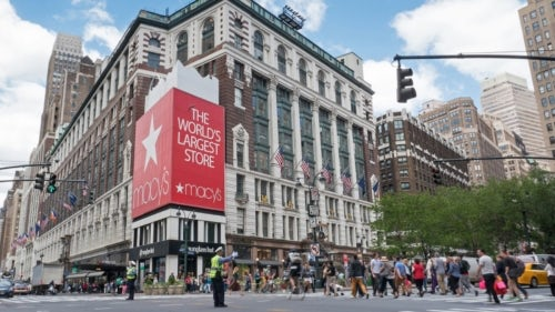 Macy's flagship store in Herald Square, New York