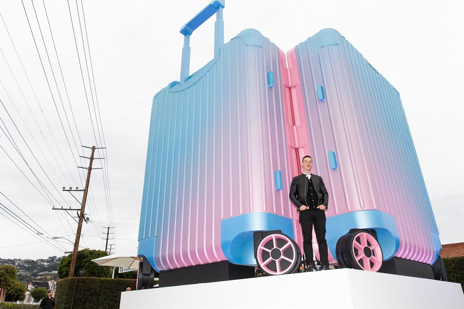The giant Rimowa suitcase by artist Alex Israel   Source: Courtesy