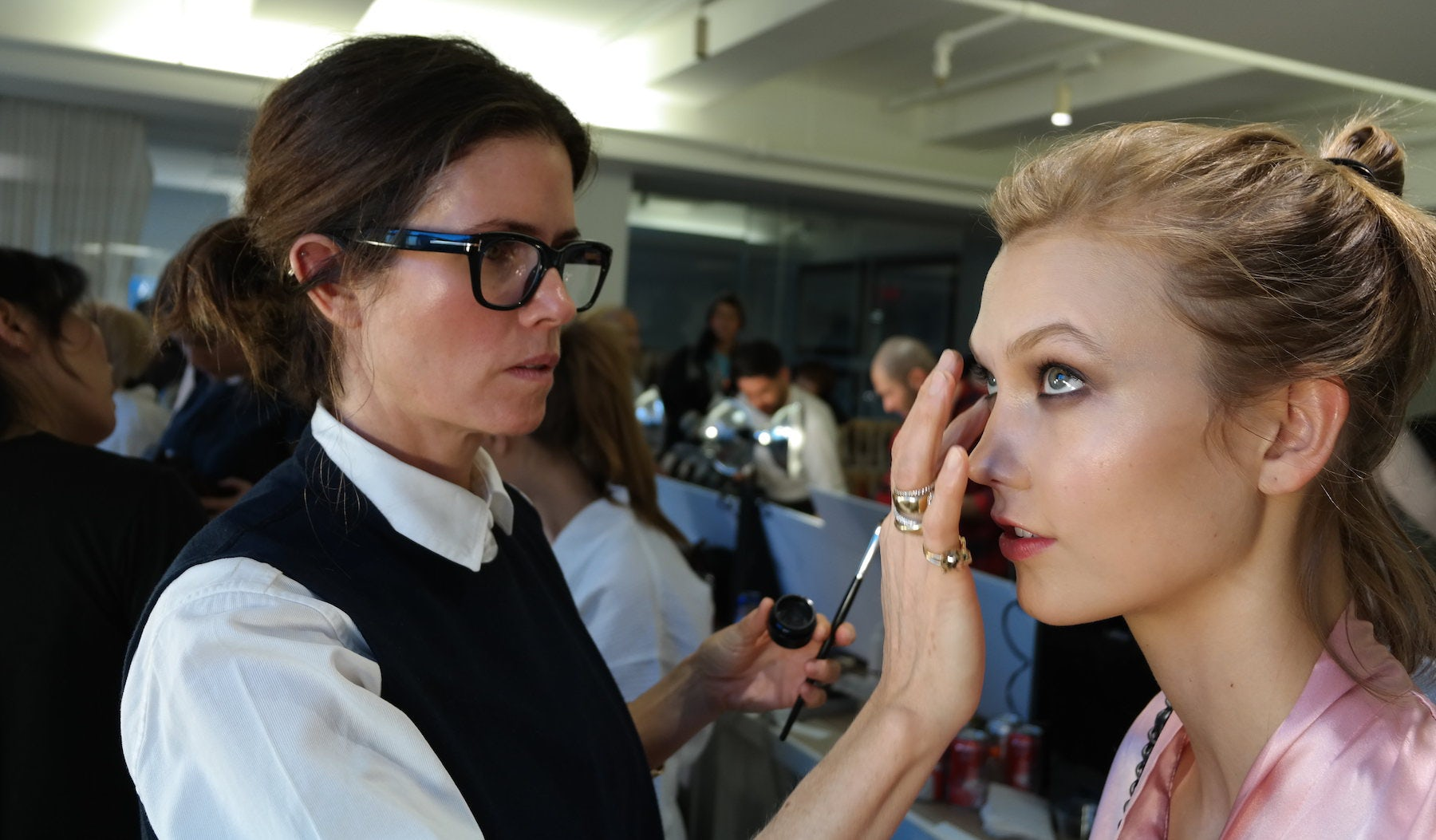 Gucci Westman backstage with Karlie Kloss | Source: Courtesy