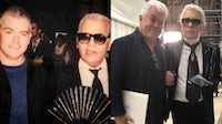 Tim Blanks and Karl Lagerfeld | Source: Courtesy