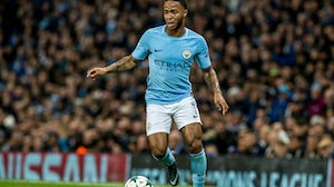 Raheem Sterling playing for Manchester City FC | Source: Shutterstock