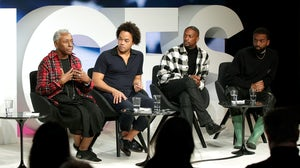 (L-R) Bethann Hardison, Patrick Robinson, LaQuan Smith, Kerby Jean-Raymond | Source: Getty Images for The Business of Fashion