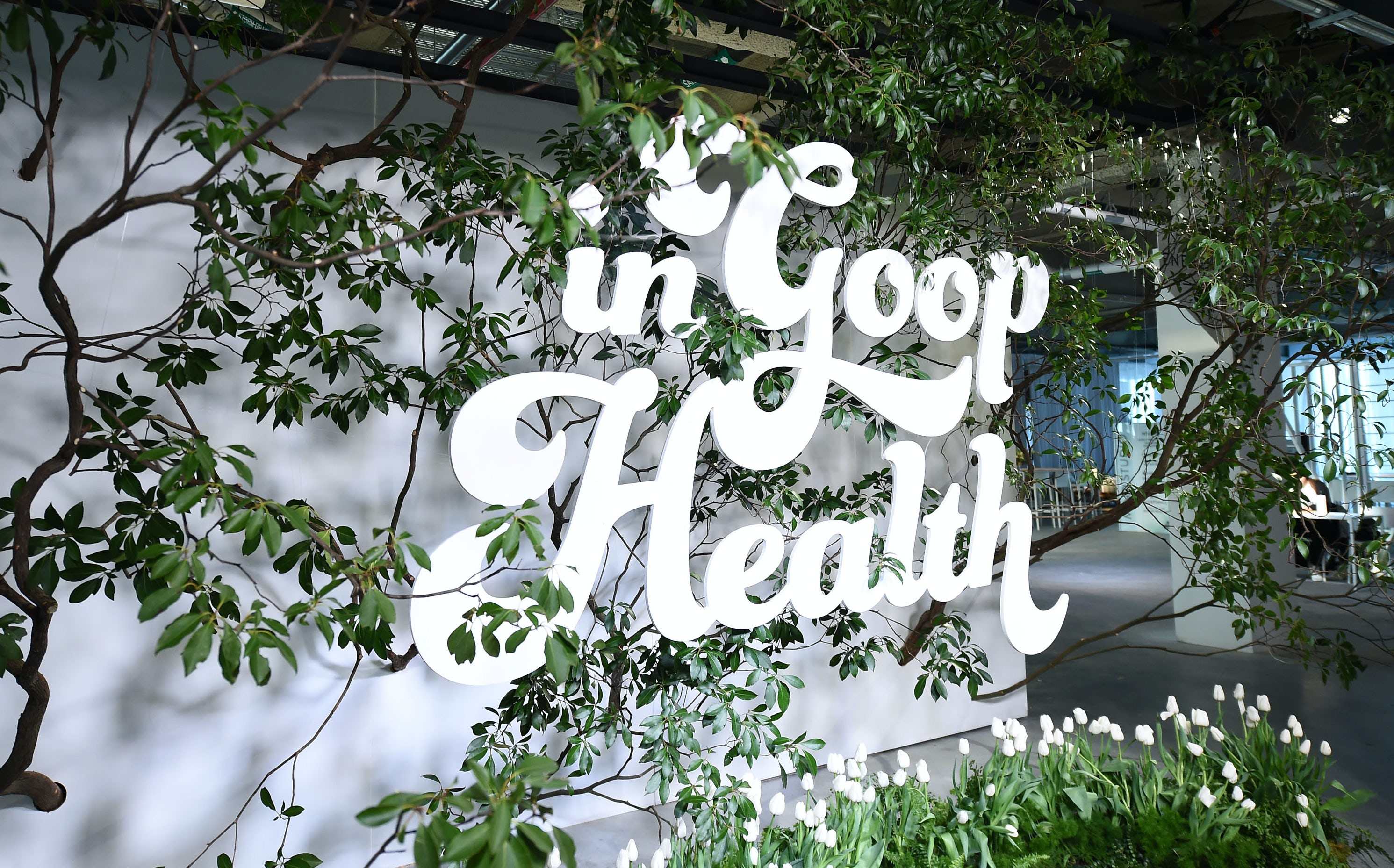 Sign from the In Goop Health Summit | Source: Getty Images