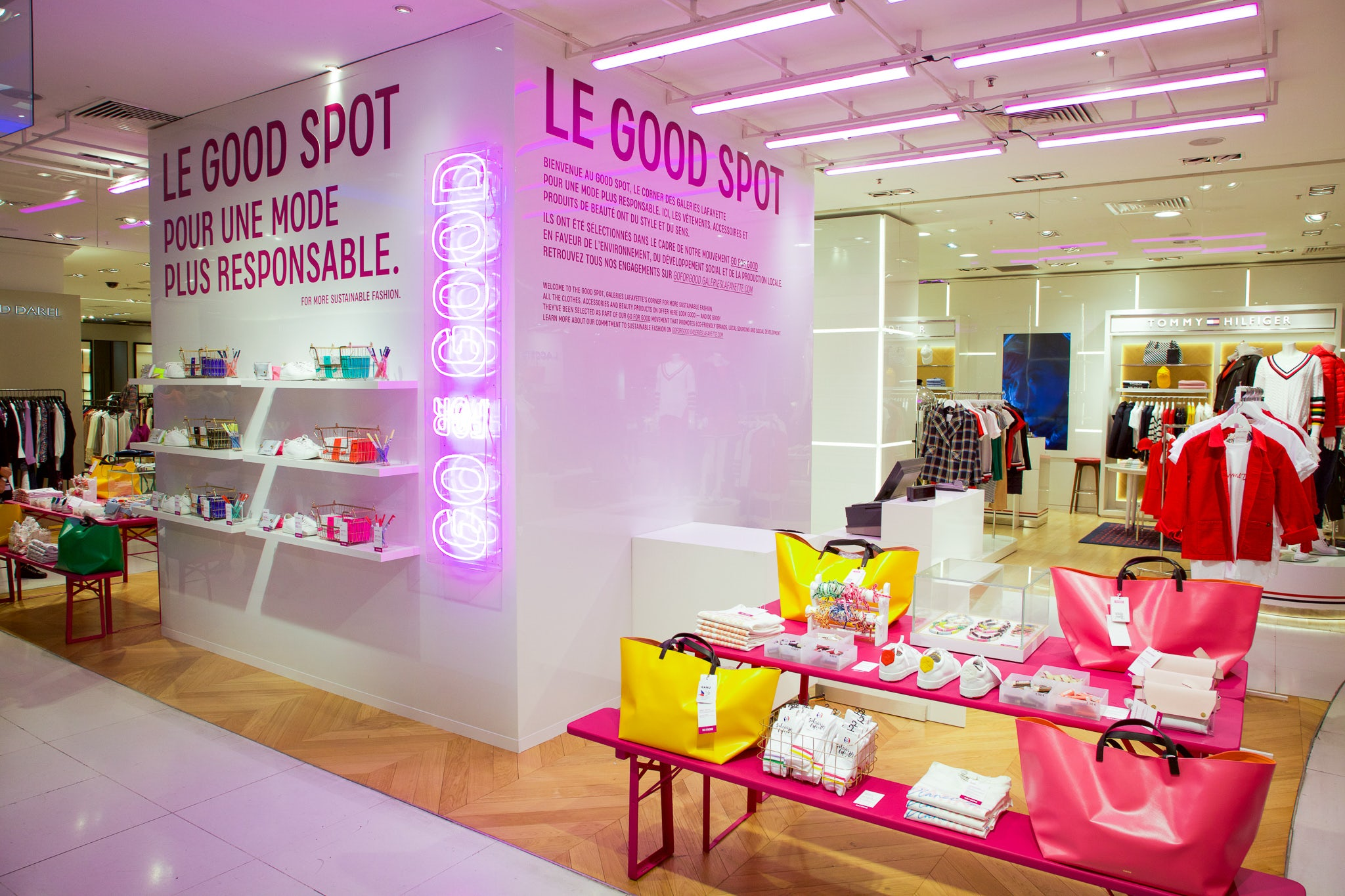 Galeries Lafayette's showcase of sustainable products in its Boulevard Haussman store in Paris   Source: Courtesy