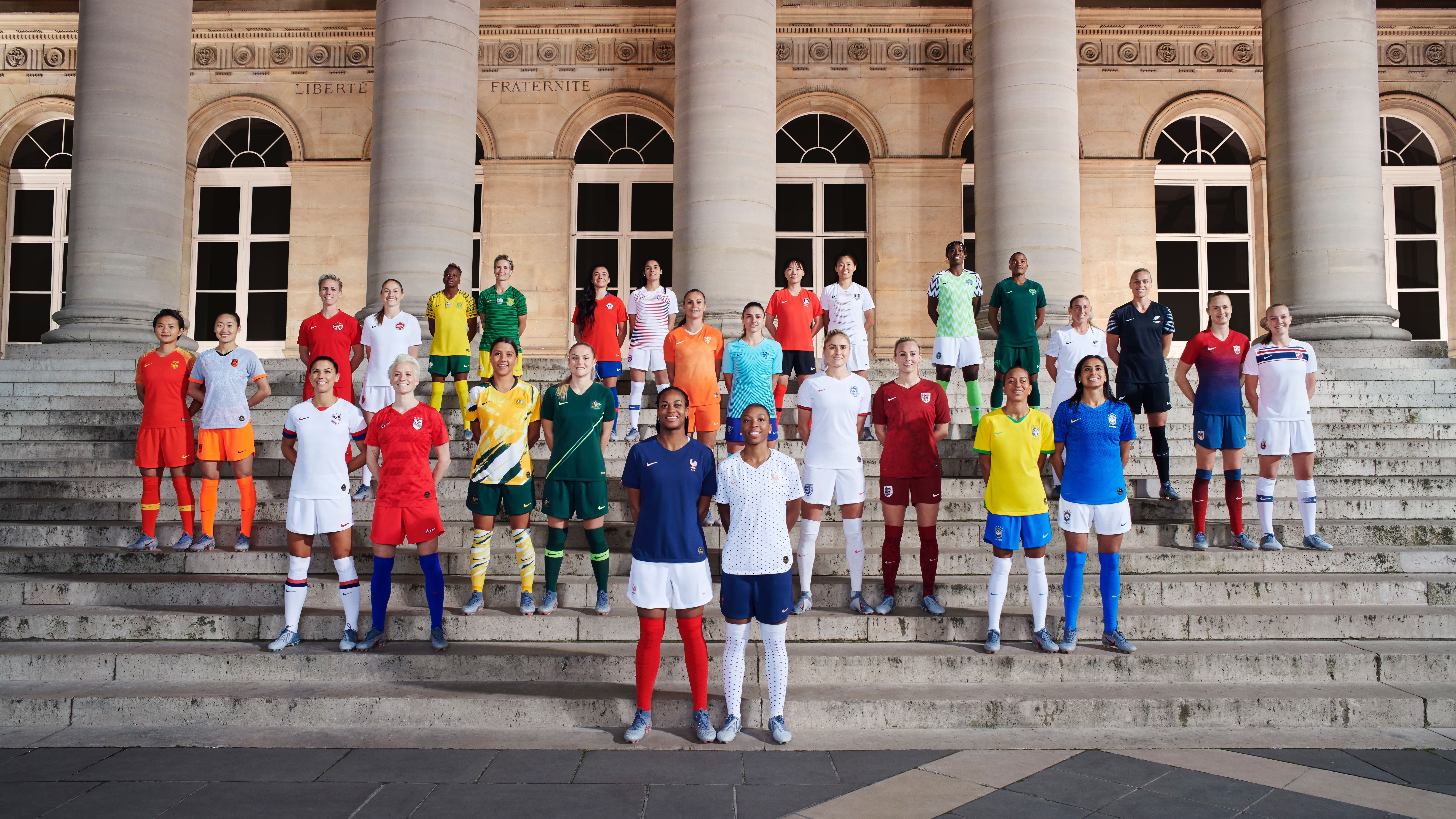 Nike's national strips for the Women's World Cup | Source: Nike News