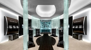 Imagic Glass installation in Richard Mille store | Photo: Philippe Lauzon