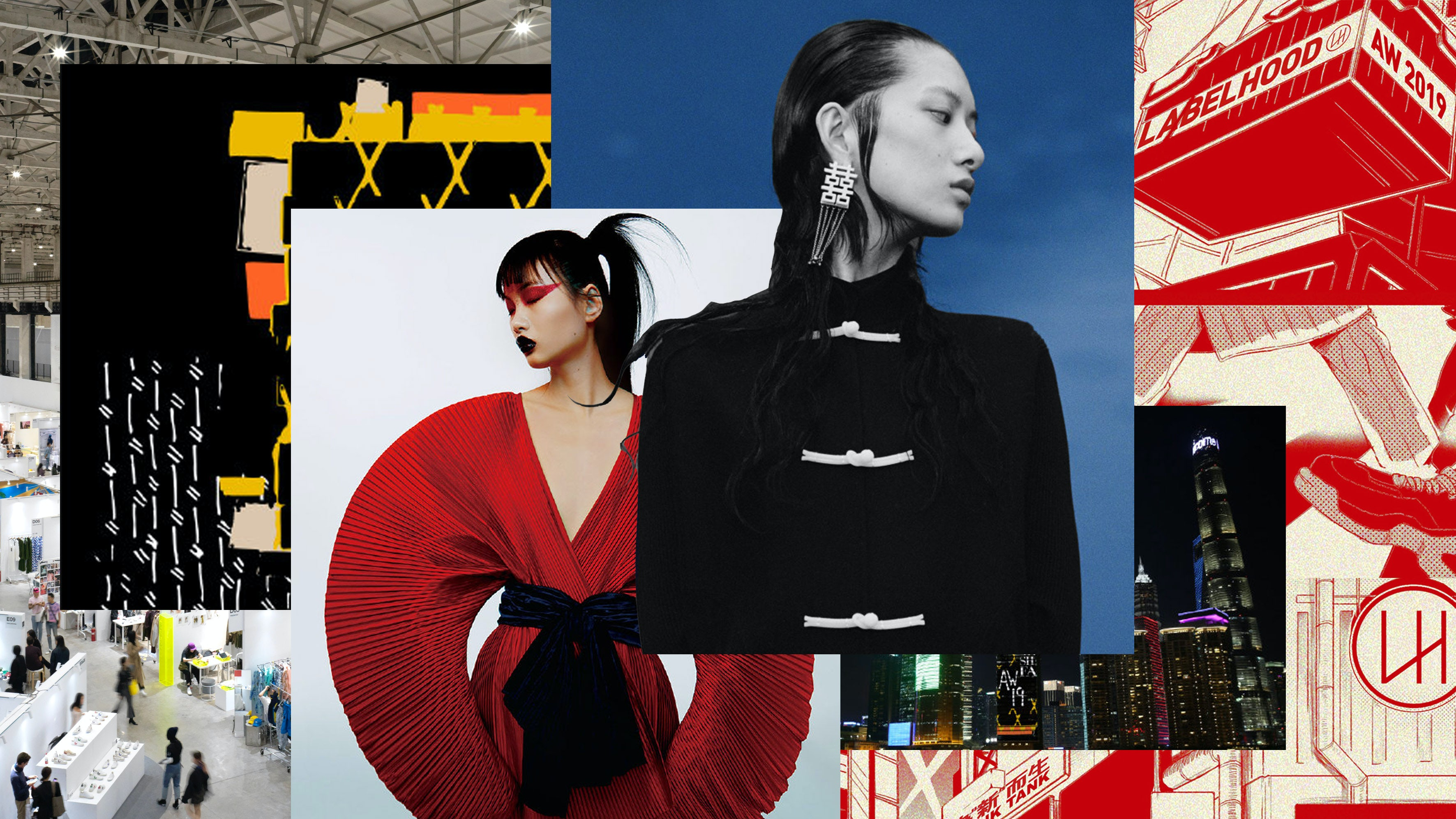 Images courtesy of Shanghai Fashion Week,Labelhood, and Zeng Wu | Collage by BoF